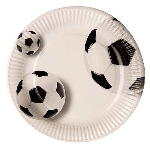 Plato Futbol, 23 cm de fibra fresca (biodegradable) - PLATOS