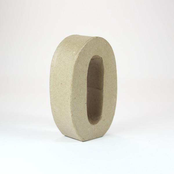 Numero 0 de 10 cm de cartón -