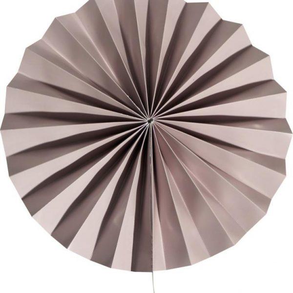 Abanico de papel happy color gris de 30 cm -