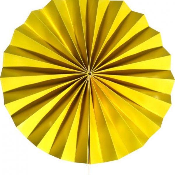 Abanico de papel Amarillo de 30 cm - Abanicos