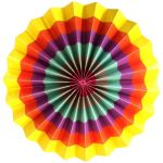 abanico multicolor 30 cm