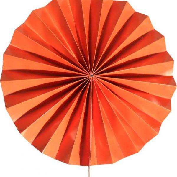 Abanico de papel de color Naranja de30 cm - Abanicos