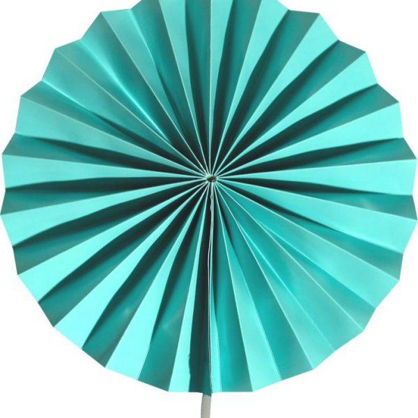 Abanico de papel de color verde marino de 30 cm - Abanicos
