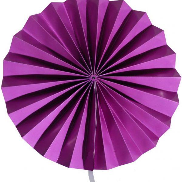 Abanico de papel color violeta de 30 cm - Abanicos