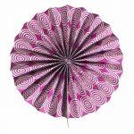 Abanico de papel color violeta de 30 cm -