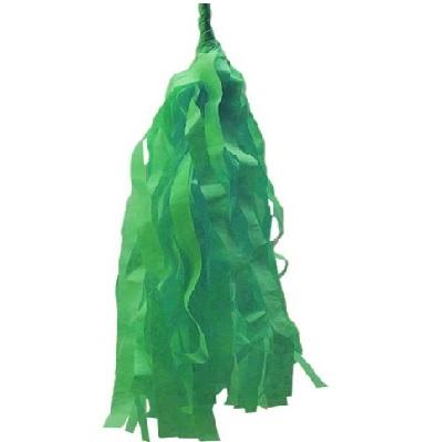 Borlas de papel color verde hierba  5uds - Fiesta Saint Patrick