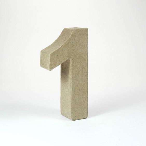Numero 1 de 10 cm de cartón -