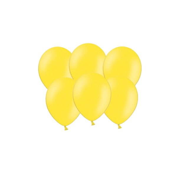100 Globos pastel color AMARILLO -