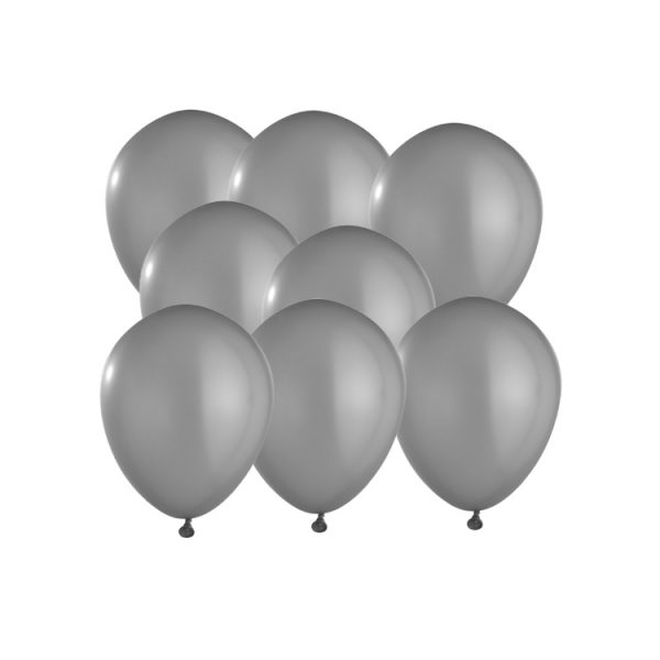 100 Globos pastel color GRIS - Decoración