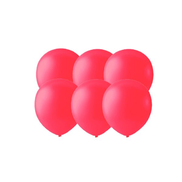 100 Globos pastel color ROJO -