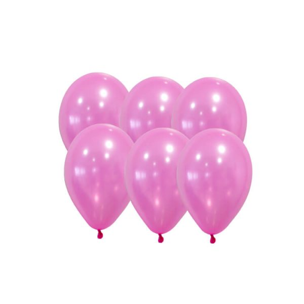100 Globos pastel color ROSA -