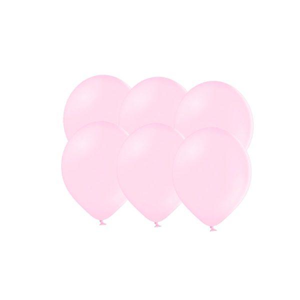 100 Globos pastel color ROSA claro -