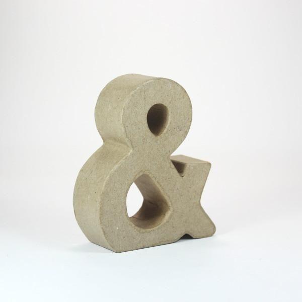 Símbolo Ampersand 10 CM de carton -