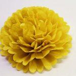 flor de papel 30 cm amarilla