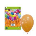 100 Globos pastel color BLANCO -