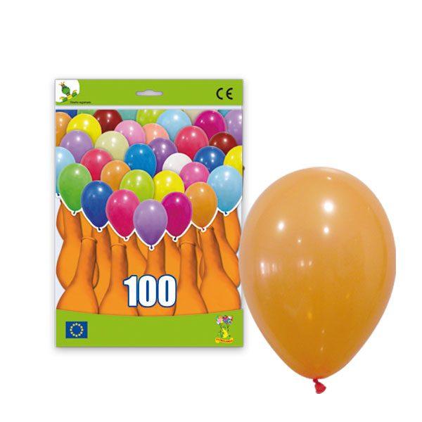 100 Globos pastel color NARANJA -