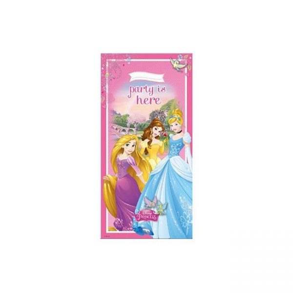 Polybag bandera puerta PRINCESAS - Fiesta princesas