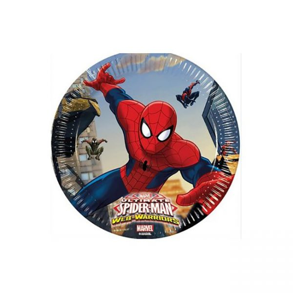 Plato plástico Spiderman de 20 cm - Fiesta superhéroes