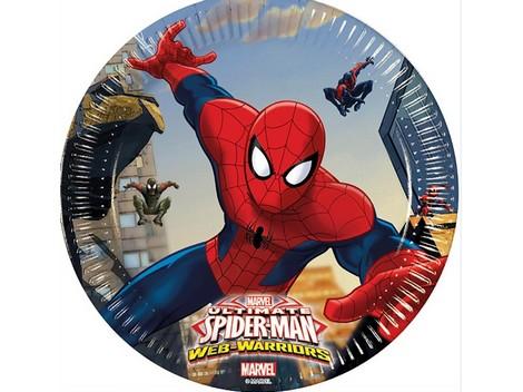 Plato plástico Spiderman de 20 cm - Cumpleaños infantil