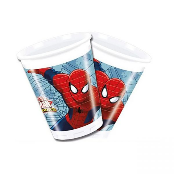 Vaso plástico SPIDERMAN - Fiesta superhéroes