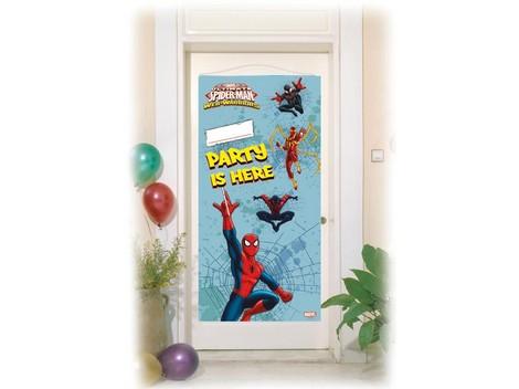Polybag bandera Puerta Spiderman - Cumpleaños infantil