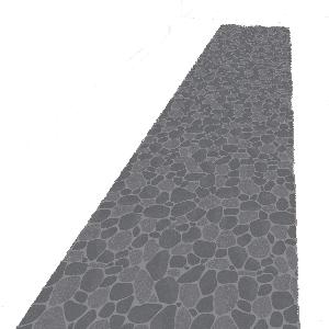 Rollo de papel piedras medieval 60cmX3m - Fiesta medieval
