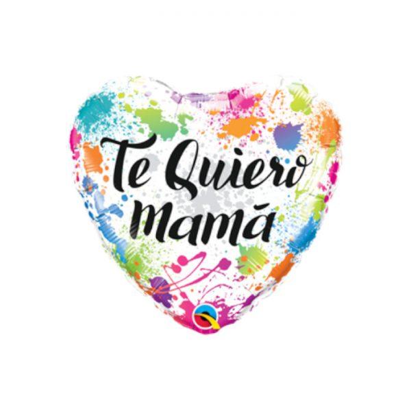 "Globo microfoil ""TE QUIERO MAMÁ"" de 18"" -"