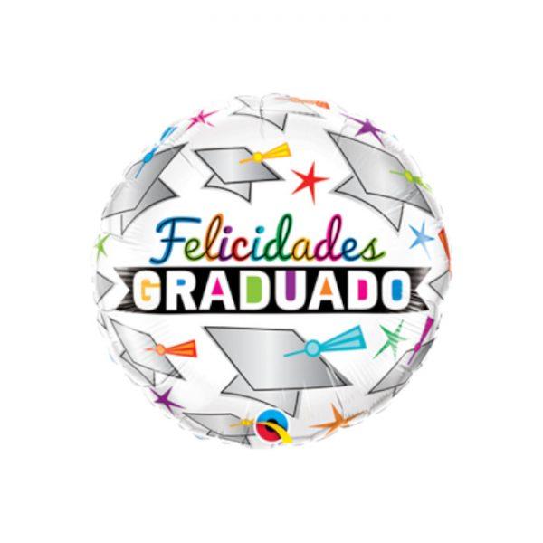 "Globo microfoil ""FELICIDADES GRADUADO"" de 18"" -"