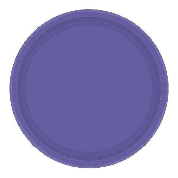 Plato de cartón color MORADO de 23cm - PLATOS