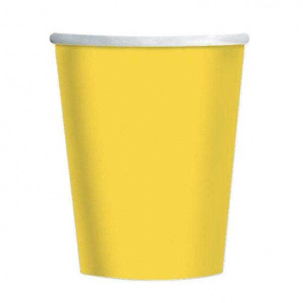 Vaso de cartón  AMARILLO de 23cm -