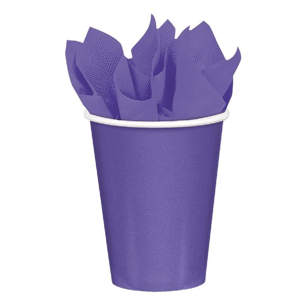 Vaso de carton color MORADO de 23cm -
