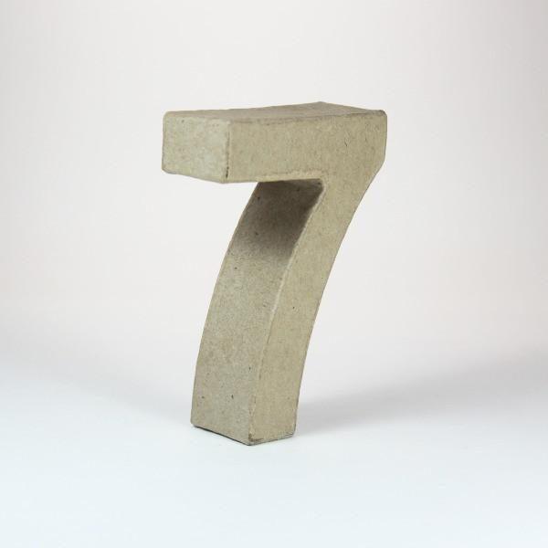 Numero 7 en cartón de 18 cm -
