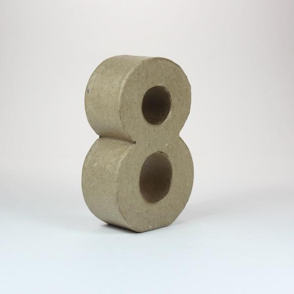 Numero 8 de 10 cm de cartón -