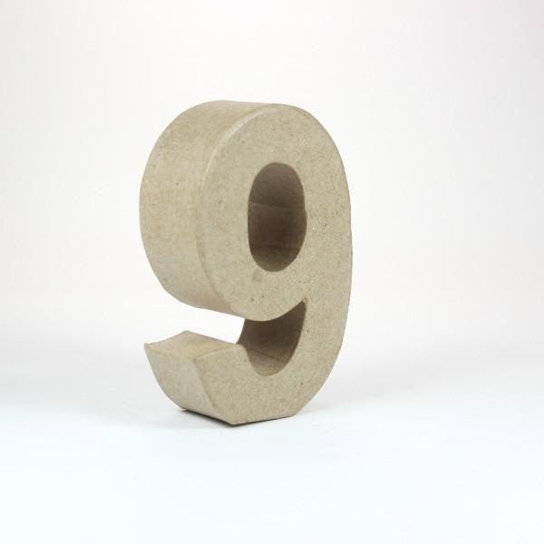 Numero 9 en cartón de 18 cm -