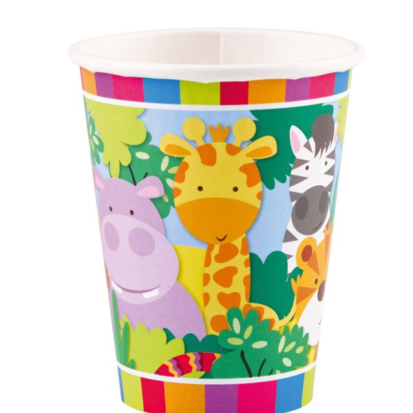 Vaso  ANIMALES JUNGLA de 266ml -