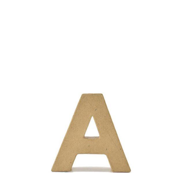Letra A de 18 cm de cartón -