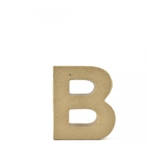 Letra B de 18 cm de cartón -