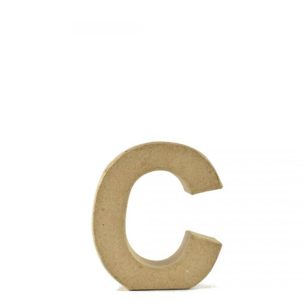 Letra C de 18 cm de cartón -