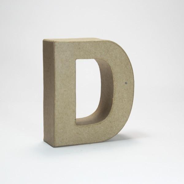 Letra D de 18 cm de cartón -