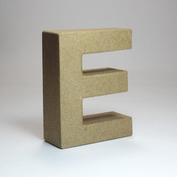 Letra E de 18 cm de cartón -