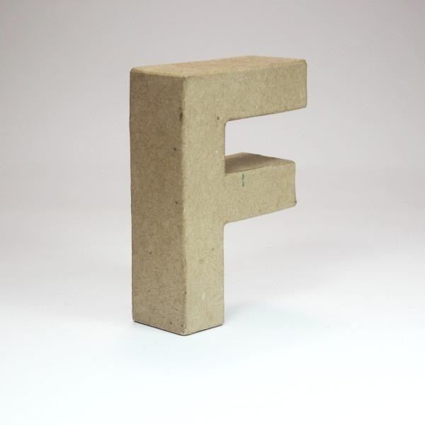 Letra F de 10 cm de cartón -