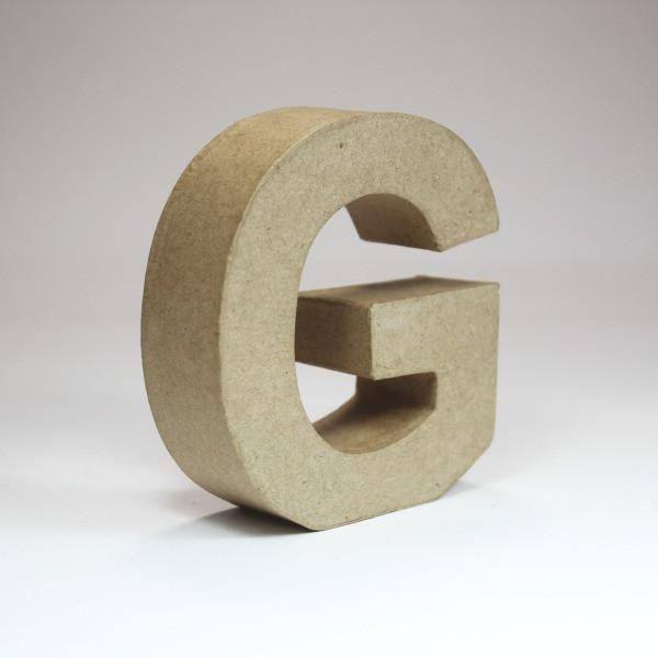 Letra G de 18 cm de cartón -