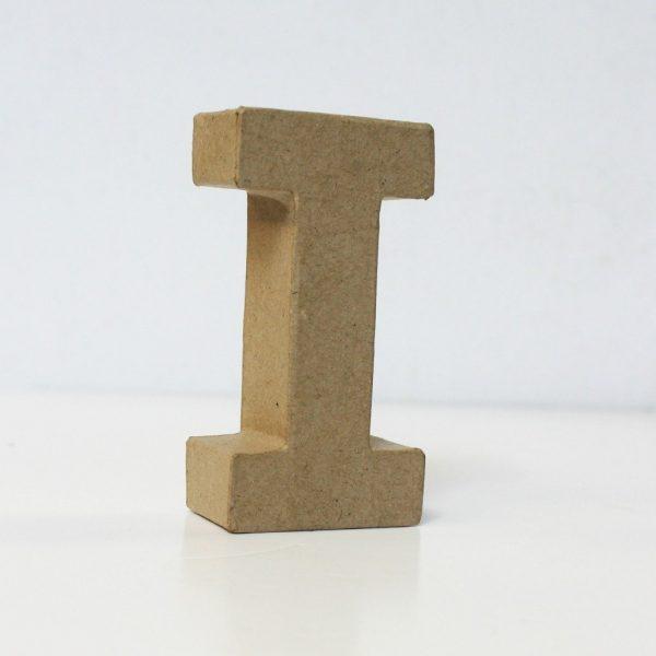 Letra I de 10 cm de cartón -