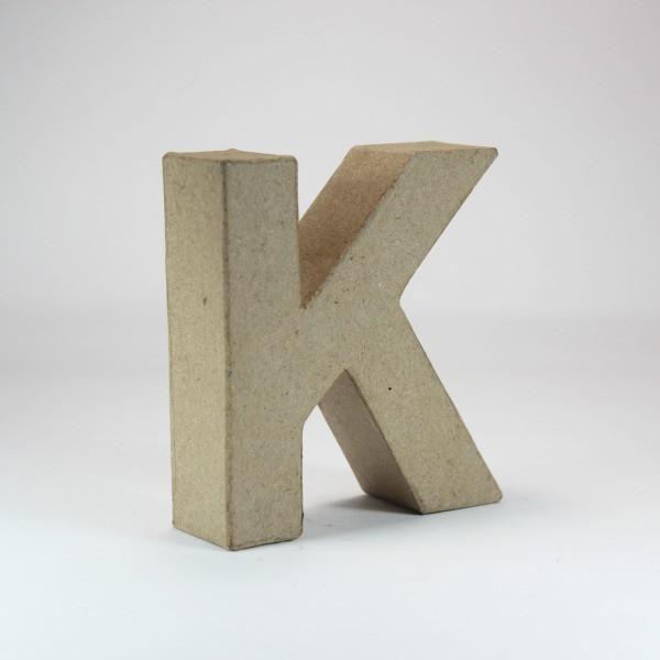 Letra K de 18 cm de cartón -