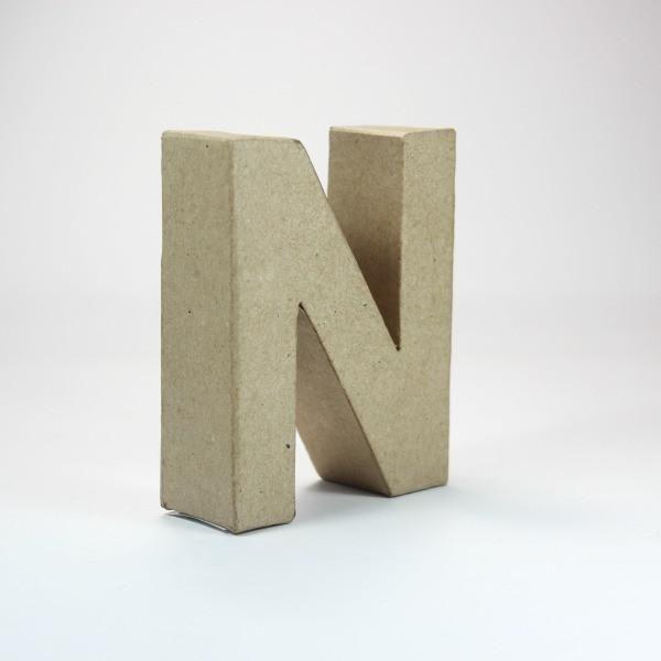 Letra N de 10 cm cartón -