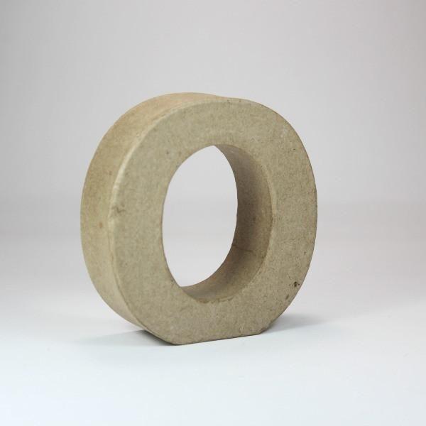 Letra O de 10 cm de cartón -