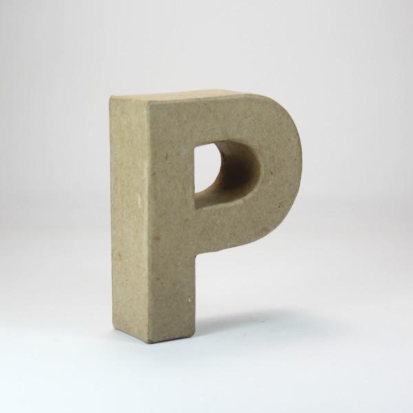 Letra P de 10 cm de cartón -