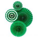 Abanicos de papel BASIC GREEN FAN