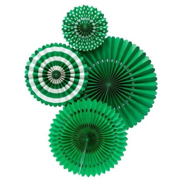 Abanico de papel BASIC GREEN FAN -