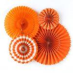 abanicos basic orange fan